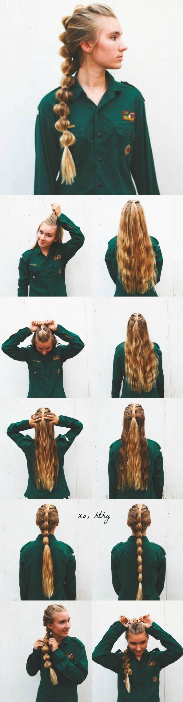More Viking Hair for the modern woman. #hthg #vikinghair...how do they make this up??