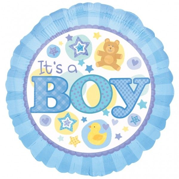 "Cachao Toy Cafe - 18"" Foil Balloons - It's a Boy"