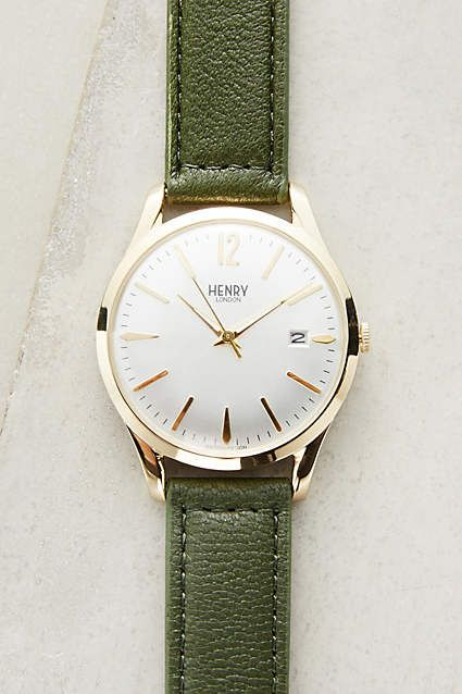Retro look simplicity with a great colour strap. Want!