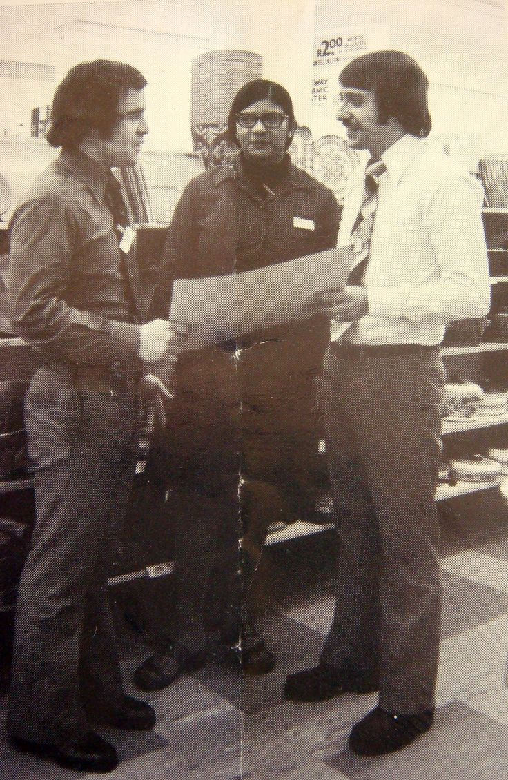 The photograph was taken in 1976 in our Plein Street Store Branch 104. From left to right Tony Gordon (Manager), Jane Abrahams (Locker Controller) and me (Assistant Manager). The store opened in the latter part of 1969 and was the 4th Clicks store to be opened. The branch was situated near the houses of parliament and enjoyed the support of the country's many top dignitaries and members of parliament. Source Clicks News April-June 1976 Read more on http://mc1a.wordpress.com/xxx/