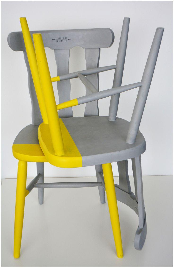 Leuke kleurencombi grijs en geel!
