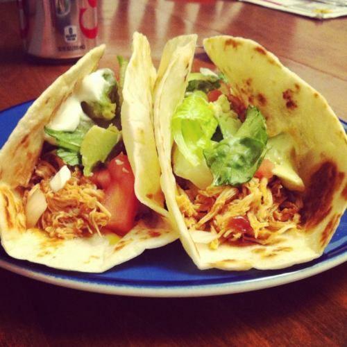 Crockpot Chicken Tacos!: Healthy Meals, Crockpot Meals, Chicken Tacos, 3 Ingredients, Dinner Time, Crockpot Chicken, Crock Recipes, Crockpot What