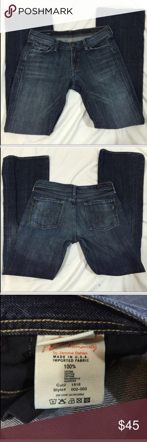 Citizens of Humanity Ingrid SZ 30 Citizens of Humanity Ingrid Low Waist Flare SZ 30 with approximately a 31in inseam. Minor wear on bottom of pant leg, shown in first pic. Citizens Of Humanity Jeans Flare & Wide Leg