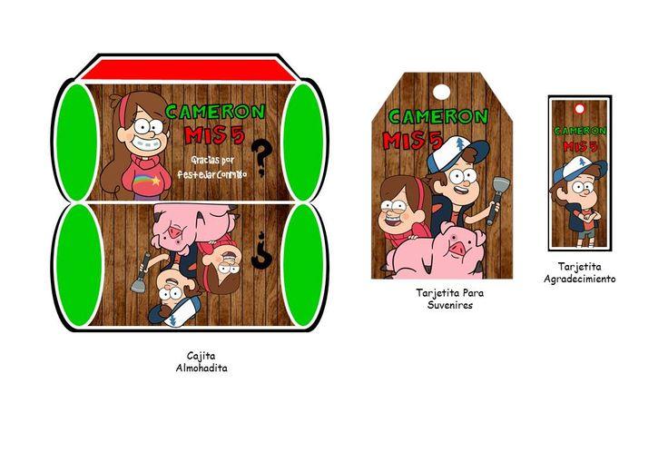 Kit Imprimible Para Tu Fiesta De Gravity Falls - $ 5.900 en Mercado Libre