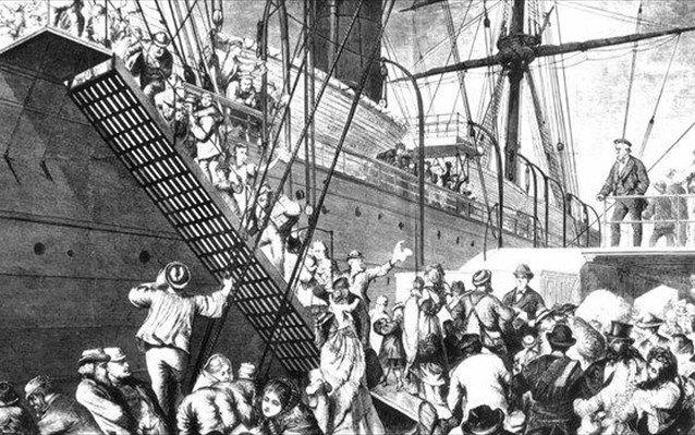 Πέντε εκατομμύρια Γερμανών μετανάστευσαν τον 19ο αιώνα στην Αμερική εξαιτίας μεταβολών του κλίματος.