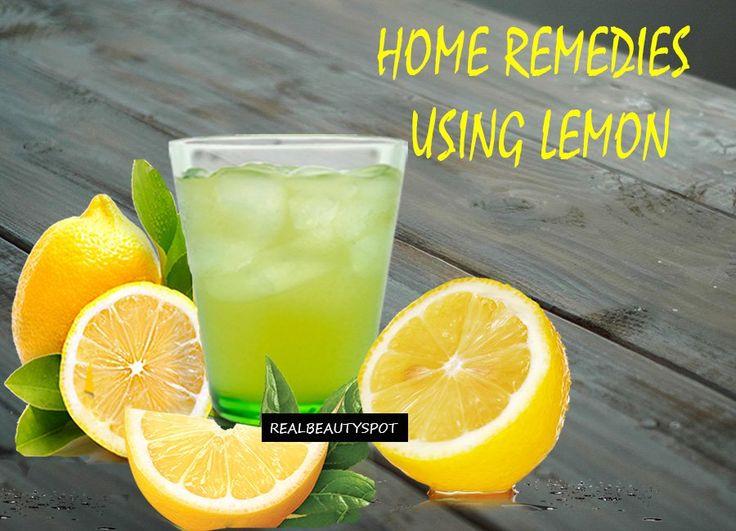 Home remedies using lemon - menstrual cramps, sore throat, and headache