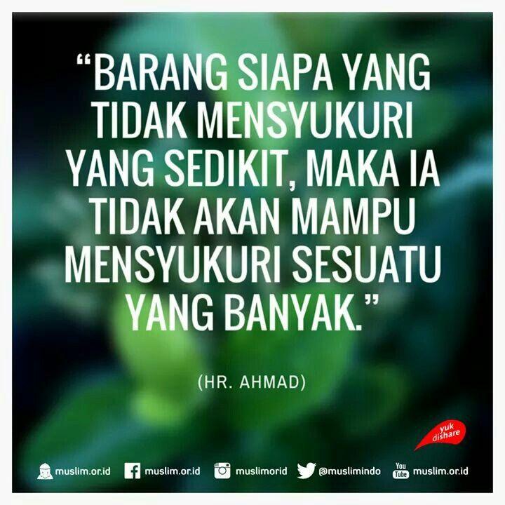 Image result for hadith tentang syukur