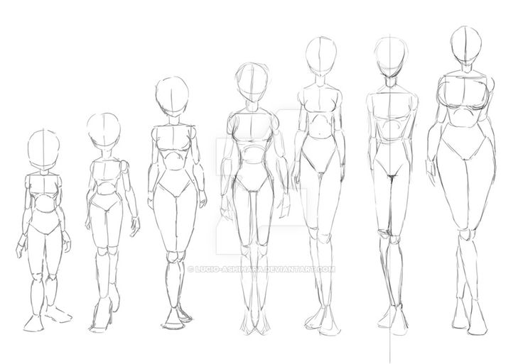 different types of skinny wome by lucio-ashihara.deviantart.com on @DeviantArt