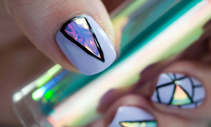 Holographic Foil Nail Art | Nails