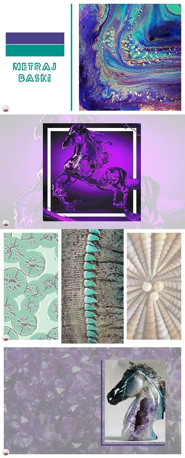 Mirage-on-a-desert-like theme; Turquoise Mirage. #moda #fashion #inspiration #lilac #at #horse #inspire #baskı #textile #design