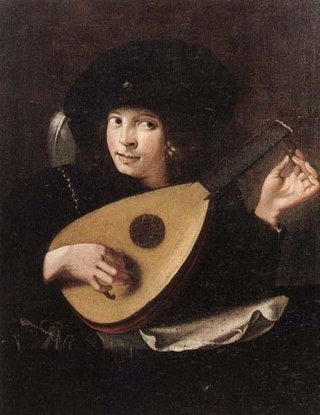 Paolini, Pietro (1603-1681) follower of - Young man tuning a lute - Pinterest