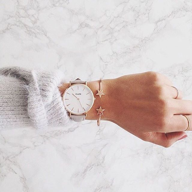 Get your La Boheme Rosegold White / Grey online now #CLUSE #watch
