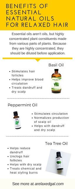 Essential Natural Oils for Relaxed Hair | http://arelaxedgal.com