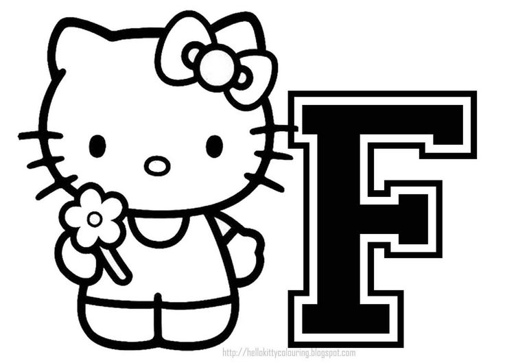 Hello Kitty Alphabet Coloring Pages : Best hello kitty letters images on pinterest