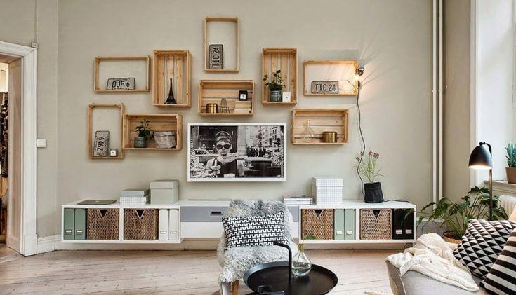 Crear estanterías con cajas de madera puede ser una opción DIY interesante y barata para los amantes de las manualidades. ¡Aquí van algunas ideas!