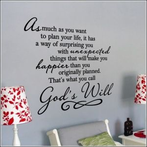 Gods Will Wall Art Decal