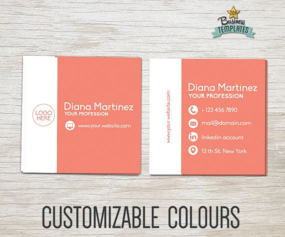 Items Similar To Square Business Cards Moo Printable Template Double Sided Calling Design Modern On Etsy