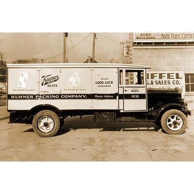 Buyenlarge 'Kuhner Packing Company, Muncie, Indiana Delivery Truck of Keener Meats' Photographic Print