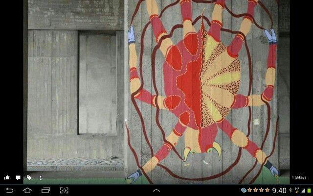 Street Art, Murual Art, Artist Viva Granlund, Helsinki, Finland