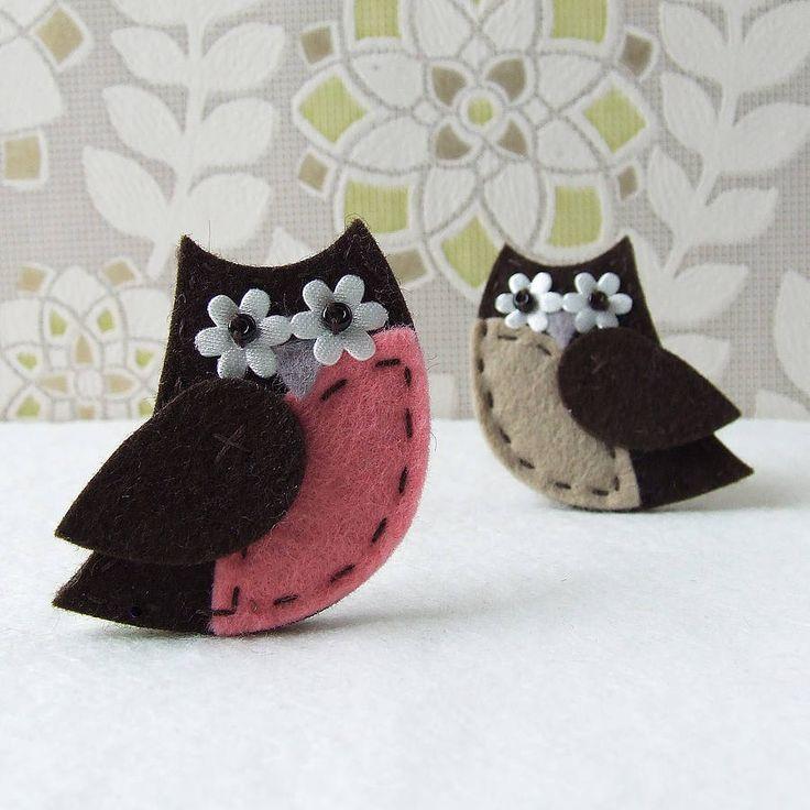 owl brooch sewing kit by fibrespace | notonthehighstreet.com