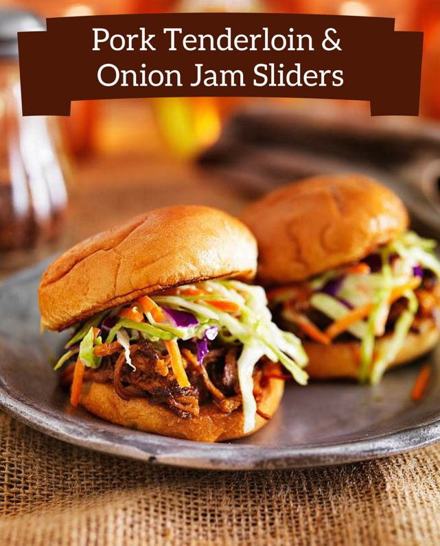Easy to make & kid-friendly. The onion & apricot jam is what makes these sliders so special!