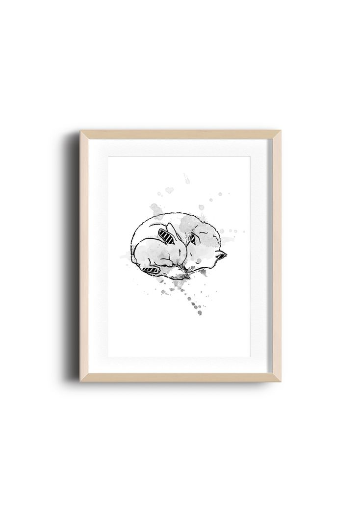 Lapin + Wolf Grey Splatter Print - A3 - Under $20 Stocking Stuffers - Onceit
