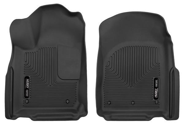 53561 Husky Liners X-act Contour Black Front Floor Liners Fitment 2011-2015 Durango/Grand Cherokee