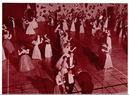 Conversat - the annual formal dance - in 1962. University of Guelph.