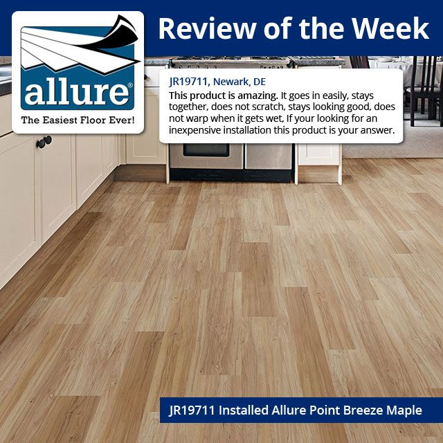 Add A Warm And Comfortable Style To Your Floor By Exhausting This Allure  Point Breeze Maple Luxury Vinyl Plank Flooring From TrafficMASTER.
