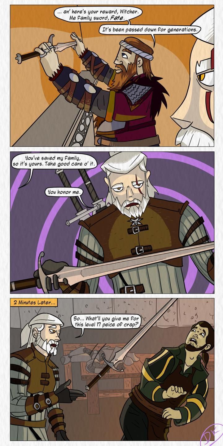 How to treat priceless hairlooms in RPGs #Witcher