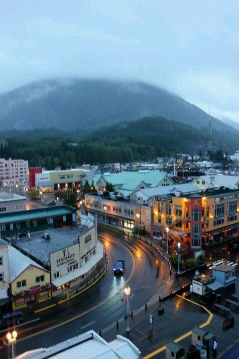 Awesome perspective, angle and light reflections in this Ketchikan Alaska photograph!