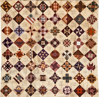 Sampler made w/ Barbara Brackman's CWar Block a Week entries by LittleQuilts (participant)
