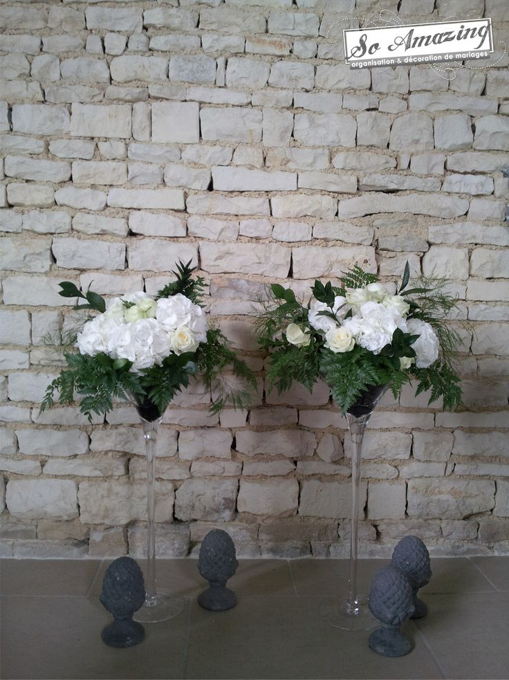 1000 images about fleurs on pinterest mariage martinis and vases - Decoration florale mariage ...