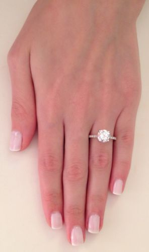 1 75 Ct Round Cut D SI1 Diamond Solitaire Engagement Ring 14k White Gold | eBay