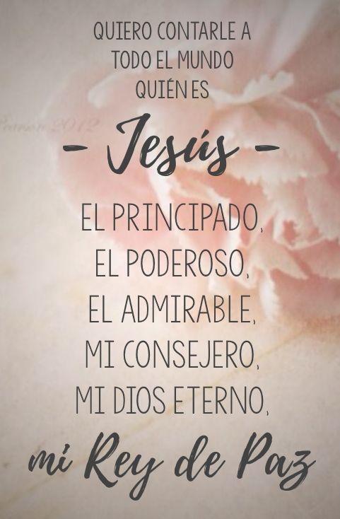 Isaías 9:6...  y se llamará su nombre Admirable, Consejero, Dios Fuerte, Padre Eterno, Príncipe de Paz.♔