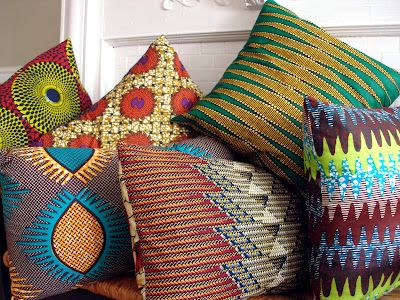 Buy African Print and Make Cushions African Prints in Fashion: Distinctive Home Designs: Origins Style by Nasozi