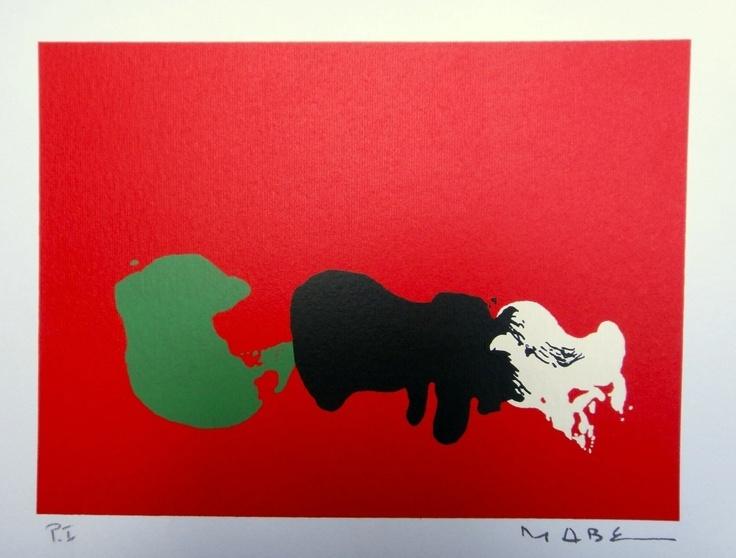 Manabu Mabe - Composição Com Fundo Vermelho - Belíssima