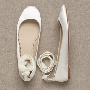 Ballerina Wedding Flats? Um, yes! Comfortable to walk in all day!
