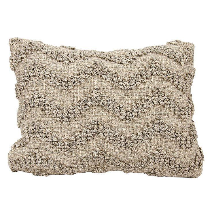 Joseph Abboud Loop Chevron Oblong Throw Pillow, Grey
