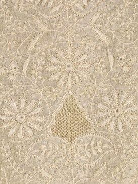 Chikan Embroidery Silk Kurta Fabric