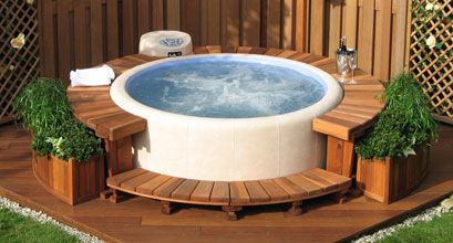 17 Best Images About Hot Tub On Pinterest Planters