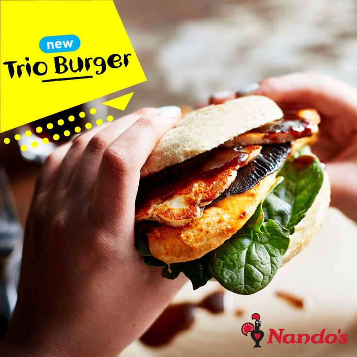 Trio Burger from Nandos simply hits the spot! @whitewatersc