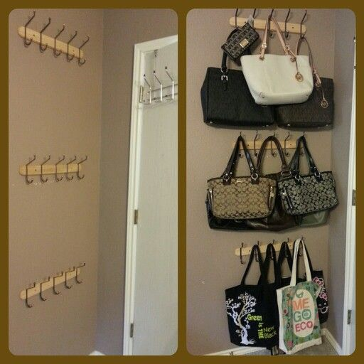 Each rack $7.99. Purse rack on a budget. Best $24 ever spent.
