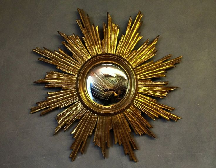 Blast from the past: Large Mid Century Gilded Sunburst Mirror By Deknudt | Lionheart Interiors