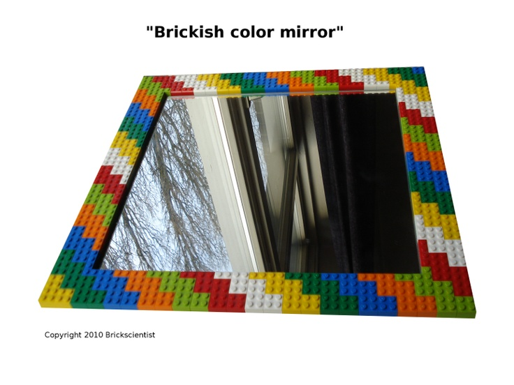 Lego Mirror For Childrenu0027s Bathroom. Can Affix More Lego Decor To This, But  Be