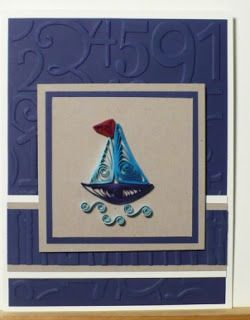 Let's create: Quilled Sail Boat