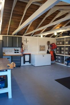 Surprise Garage Makeover! eclectic garage and shed