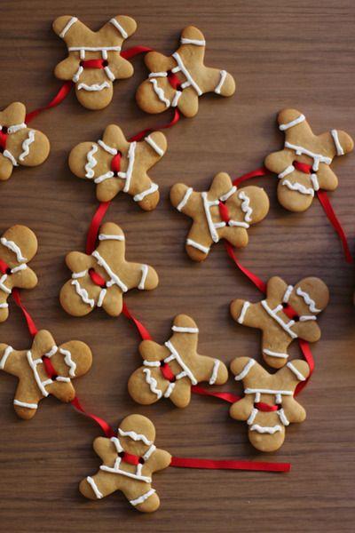 beaconblankes: How to make gingerbread men garland {click link for FULL tutorial}