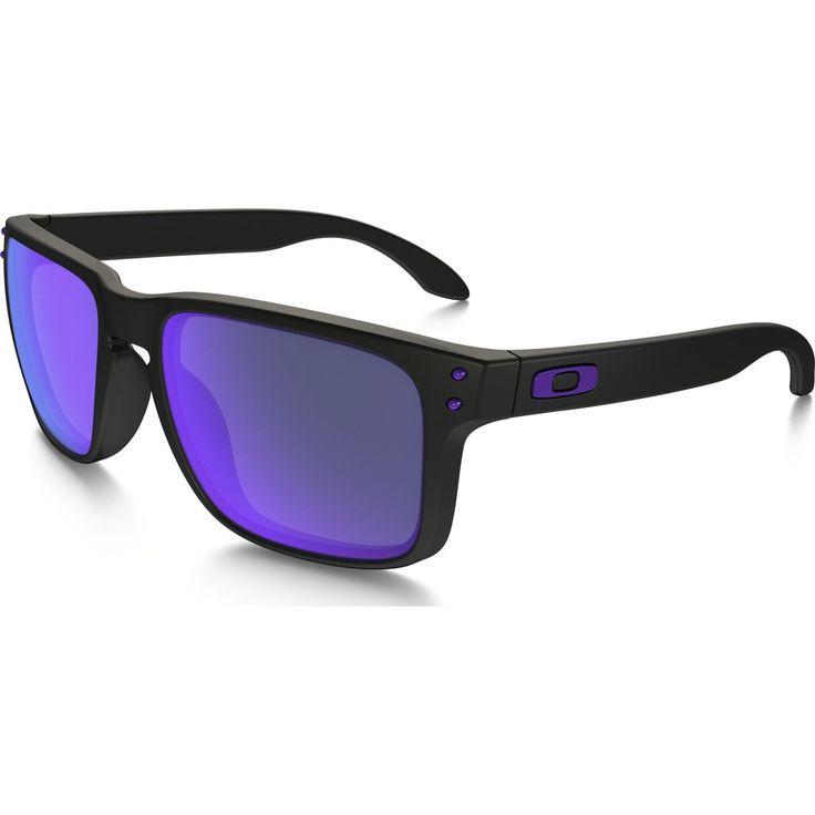 Oakley Lifestyle Holbrook Julian Wilson Matte Black Sunglasses | Violet Iridium