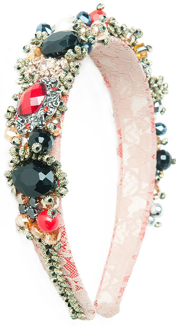 Jewelled head bands from Dolce & Gabbana. Oh, I would sooooo rock this. :-)